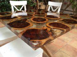 עיצוב שולחן מאפוקסי קריסטלי